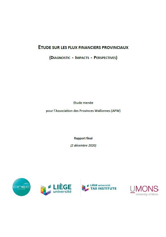 Etude sur les flux financiers provinciaux
